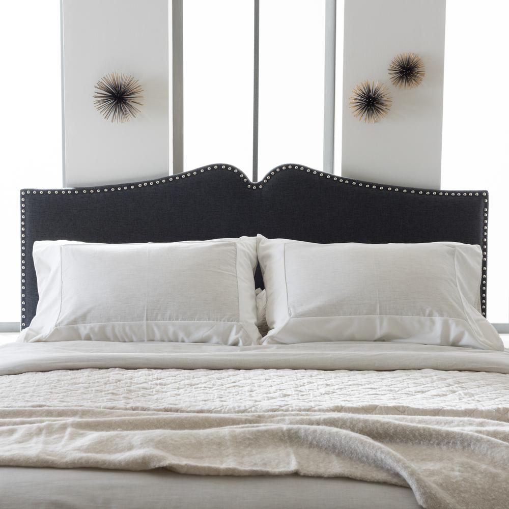 Baxton Studio Gracie Dark Gray Fabric Upholstered Queen Size Headboard