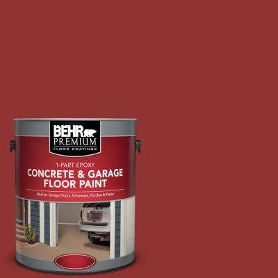 1 gal. #BIC-49 Red 1-Part Epoxy Satin Interior/Exterior Concrete and Garage Floor Paint