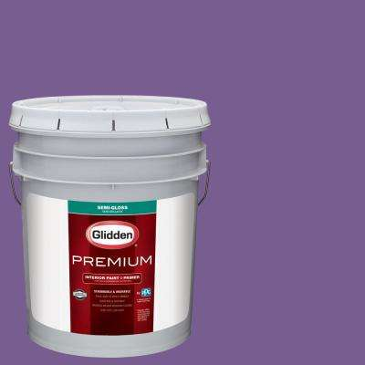 5 gal. #NBA-068A Los Angeles Lakers Purple Semi-Gloss Interior Paint with Primer