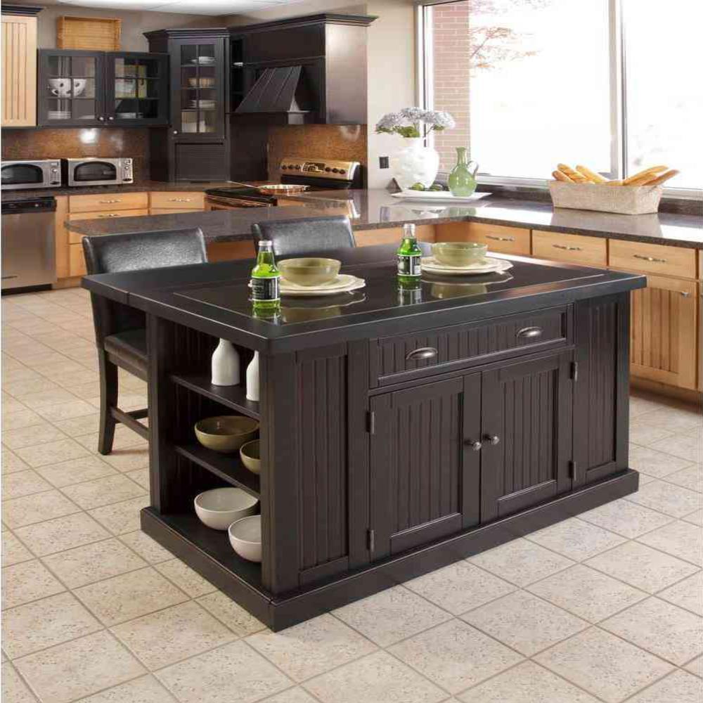 Homestyles Nantucket Black Kitchen