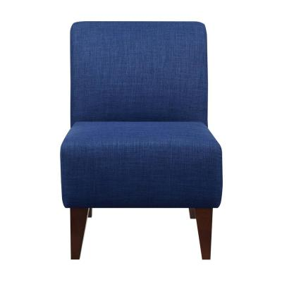 North Accent Blue Slipper Chair