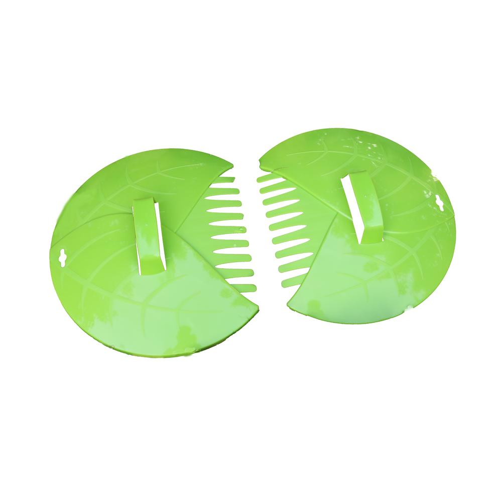 Gardenised Pair of Leaf Scoops Hand Rakes for Lawn and Garden Cleanup