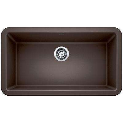 Ikon Apron Front Granite Composite 32 in. Single Bowl Kitchen Sink in Cafe Brown