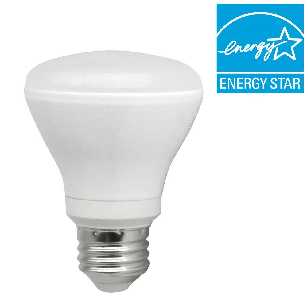 TCP 50W Equivalent Soft White (2700K) R20 Dimmable LED Flood Light Bulb