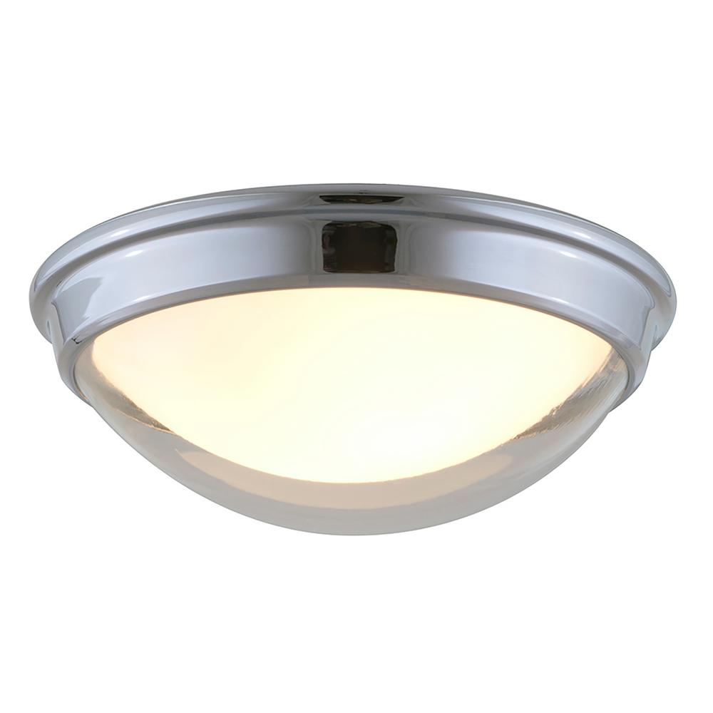Dani 2-Light Chrome Flushmount