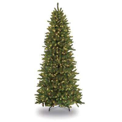 Pre-Lit Incandescent Slim Fraser Fir Artificial Christmas Tree with 800 UL - Slim - Christmas Trees - Christmas Decorations - The Home Depot