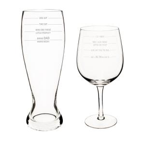 Parent Measuring XL Beer and Wine Glass Set by