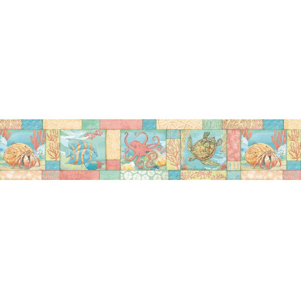 Chesapeake carmel monterey bay wallpaper border dlr53581b for Wallpaper borders for your home