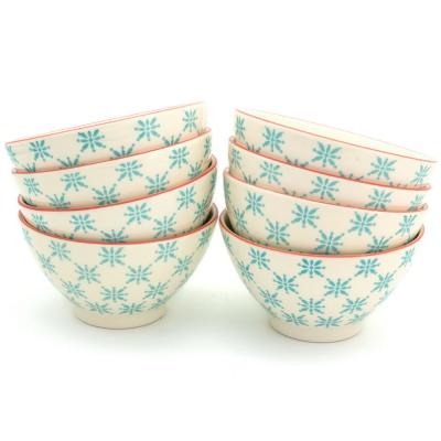 Sintra 8-Piece Turquoise Dining Bowl Set
