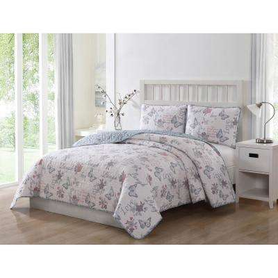 Live Laugh Love Reversible 3-Piece King Quilt Set