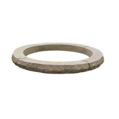 Ledgestone 42 in. Gray Variegated Fire Pit Additional Layer Kit