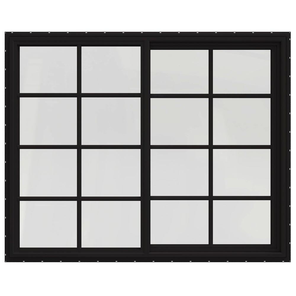 59.5 in. x 47.5 in. V-4500 Series Left-Hand Sliding Vinyl Windows