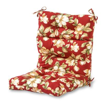 Roma Floral Outdoor High Back Dining Chair Cushion