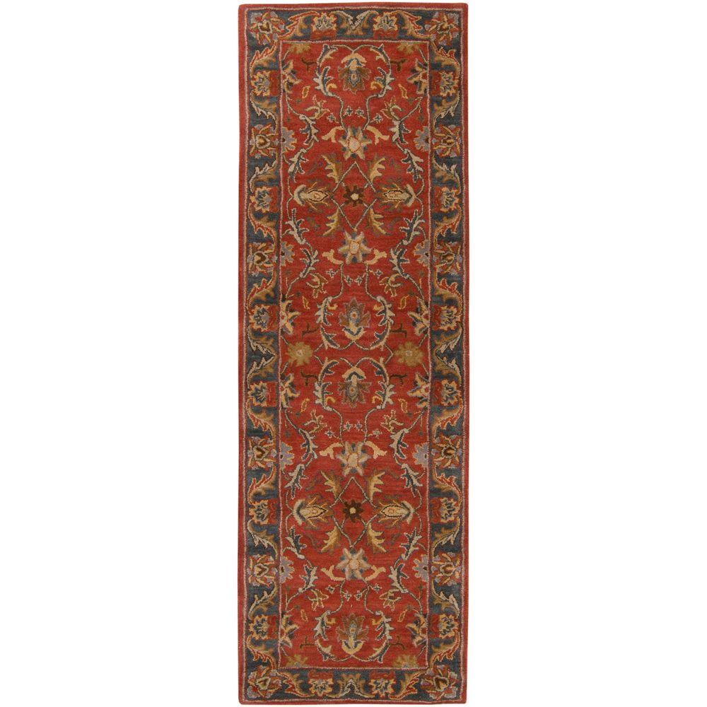 John Rust Red 3 ft. x 8 ft. Runner Rug