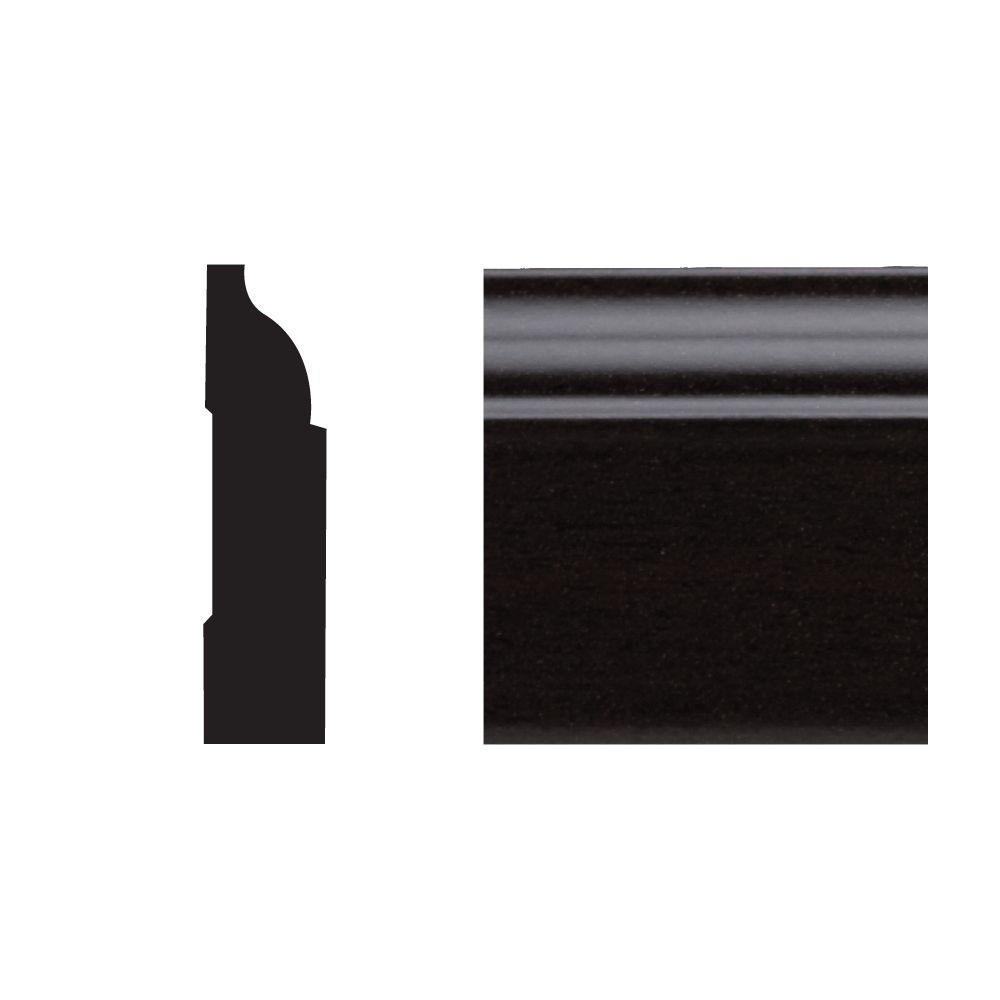 Royal Mouldings 5947 3/8 in. x 1-1/4 in. x 7 ft. PVC Composite Colonial Stop Espresso Moudling