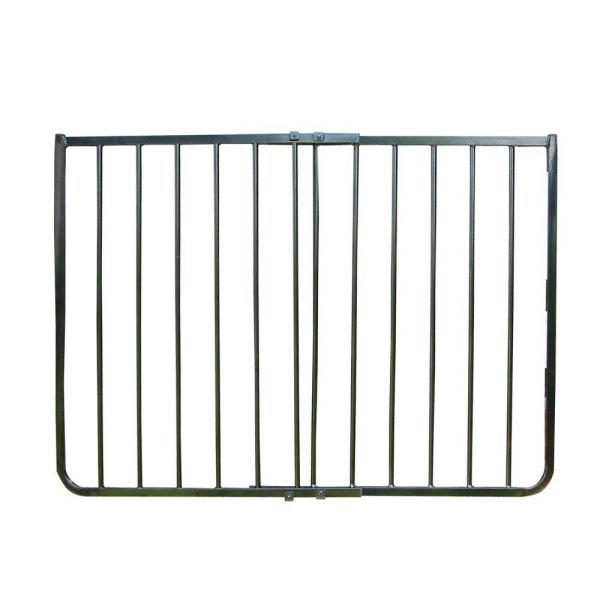 30 in. H x 27 in. to 42.5 in. W x 2 in. D Black Stairway Special Safety Gate
