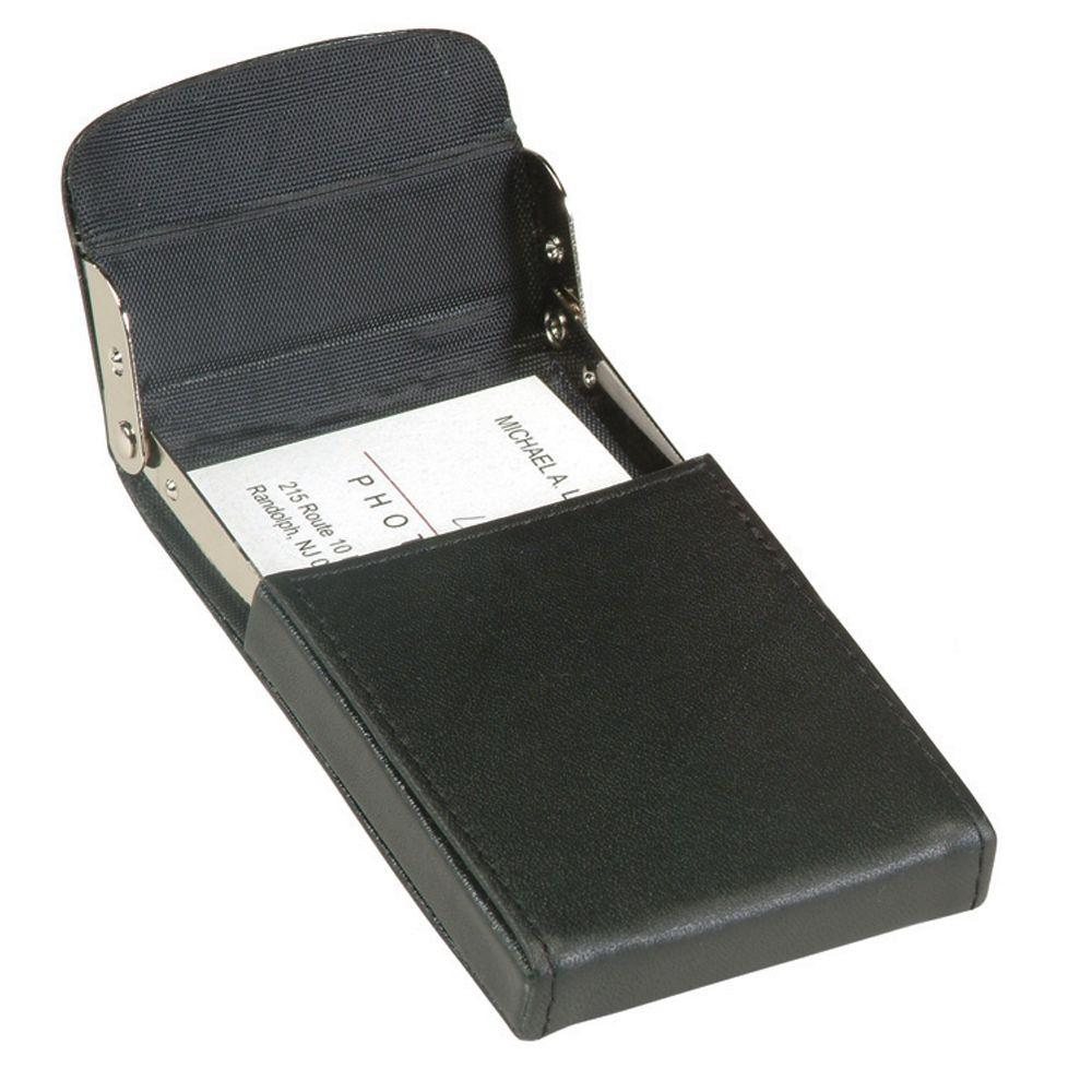 Royce Vertical Framed Business Card Case Wallet In Genuine Leather