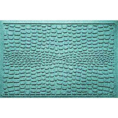 Alligator Aquamarine 24 in x 36 in Polypropylene Door Mat
