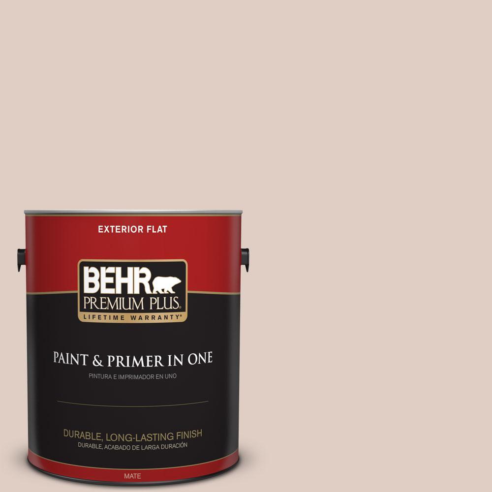 BEHR Premium Plus 1-gal. #PWN-73 Winsome Beige Flat Exterior Paint
