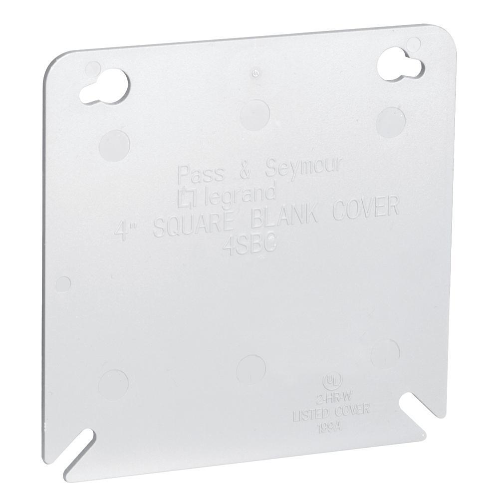 Slater 4 in. Plastic Gray Square Box Cover