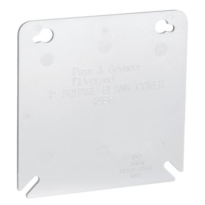Pass & Seymour Slater 4 in. Plastic Square Box Cover, Gray