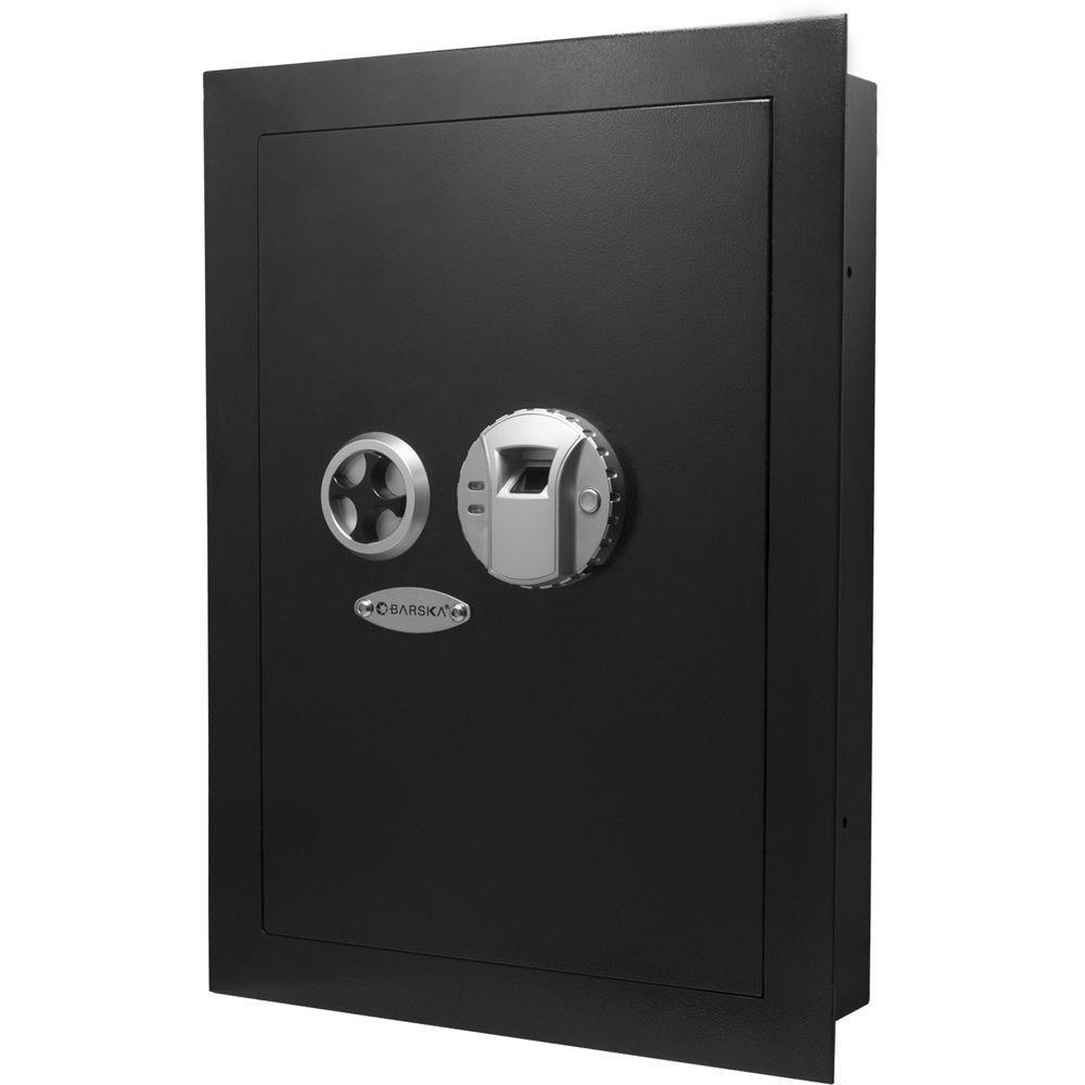 0.52 cu. ft. Wall Safe with Biometric Lock, Black Matte