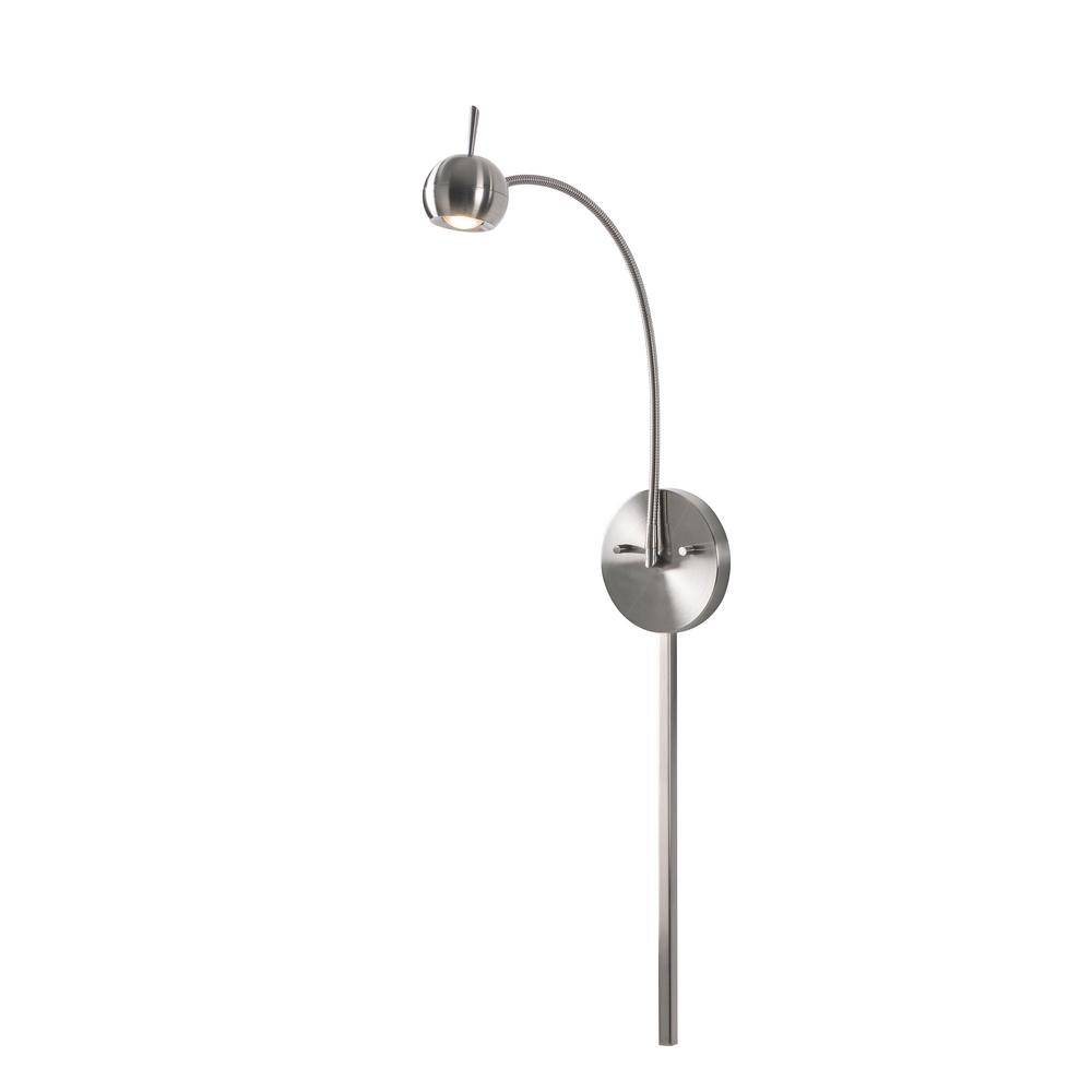 Cherry 4-watt Brushed Steel Integrated LED Wall Swing Arm Lamp