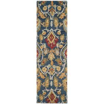 Blossom Navy/Multi 2 ft. x 12 ft. Runner Rug