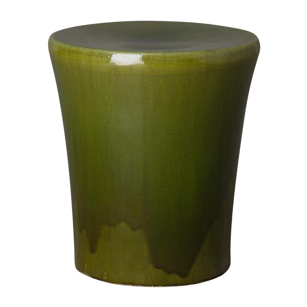 Miraculous Emissary Koji Green Ceramic Indoor Outdoor Garden Stool Pabps2019 Chair Design Images Pabps2019Com
