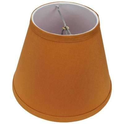 Fenchel Shades 5 in. Top Diameter x 9 in. Bottom Diameter x 7 in. Slant, Empire Lamp Shade - Linen Gold