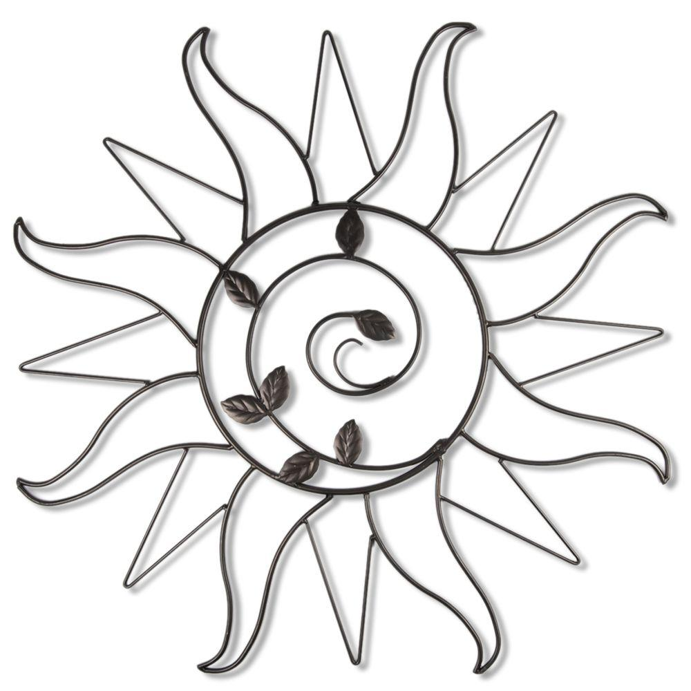 metal sun wall art Sun Sprout 34.5 in. Metal Wall Art WD200DB   The Home Depot metal sun wall art