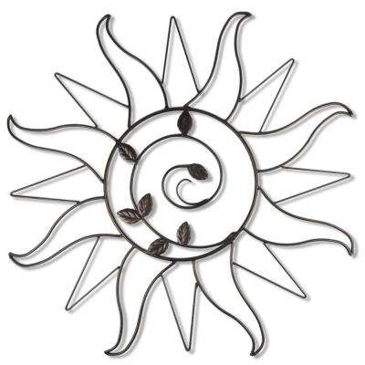 Sun Sprout 34.5 in. Metal Wall Art