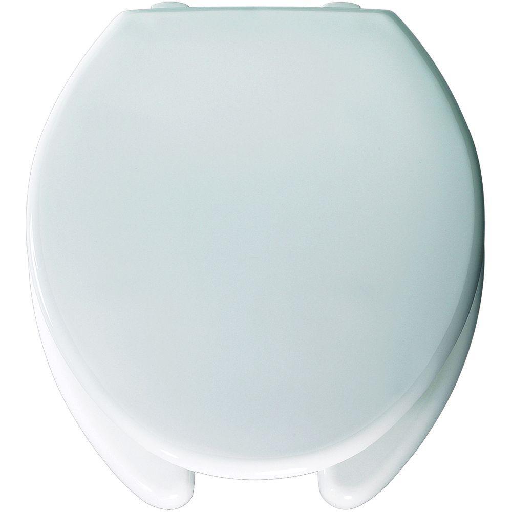 Medic-Aid STA-TITE Round Open Front Toilet Seat in White