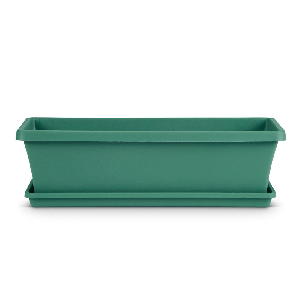 Dayton 24 in. x 6.7 in. Jungle Green Plastic Window Box