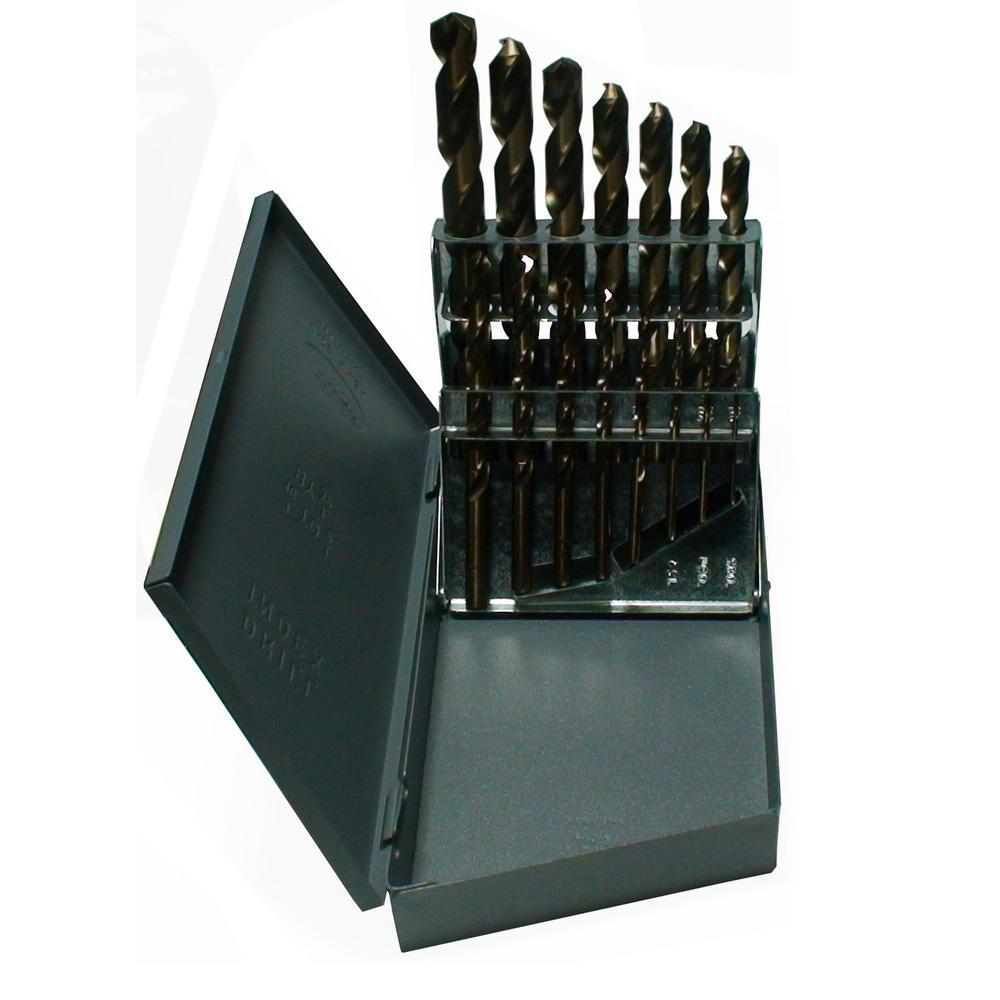 Heavy-Duty High Speed Steel Jobber Drill Bit Set (15-Pieces)
