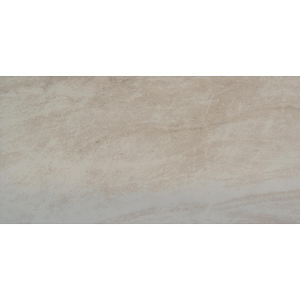 Msi naples cream 16 in x 32 in glazed porcelain floor and wall tile