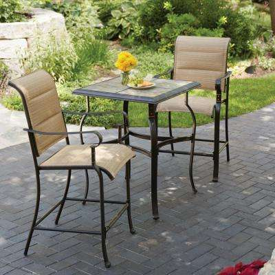 Belleville 3-Piece Padded Sling Outdoor Bistro Set