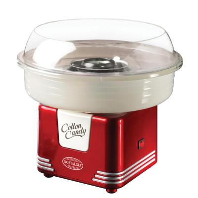 Retro Red Hard and Sugar Free Cotton Candy Maker with Cotton Candy Cones