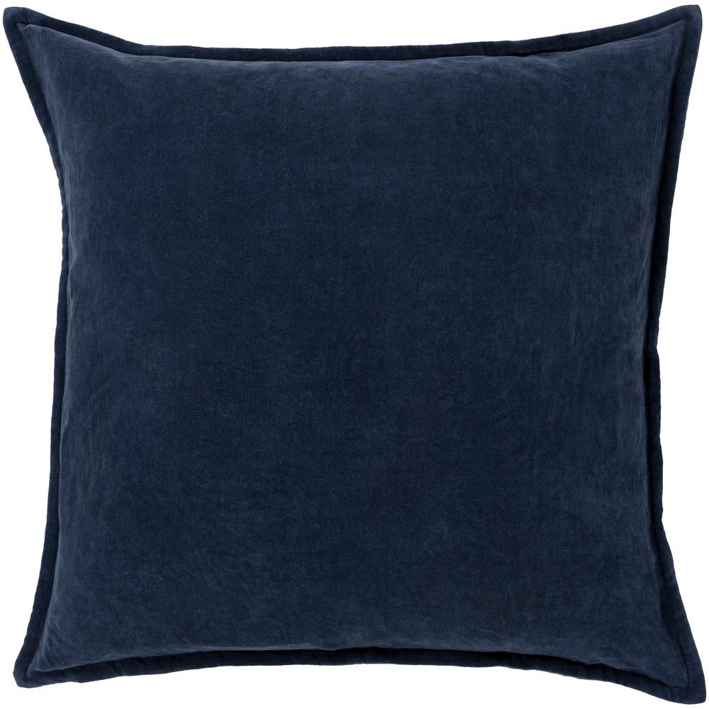 ArtisticWeavers Artistic Weavers Velizh Dark Slate Solid Polyester 22 in. x 22 in. Throw Pillow