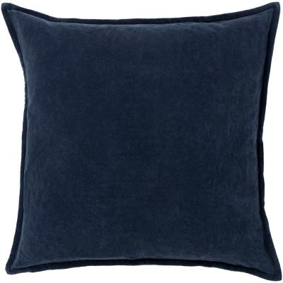 Velizh Dark Slate Solid Polyester 22 in. x 22 in. Throw Pillow