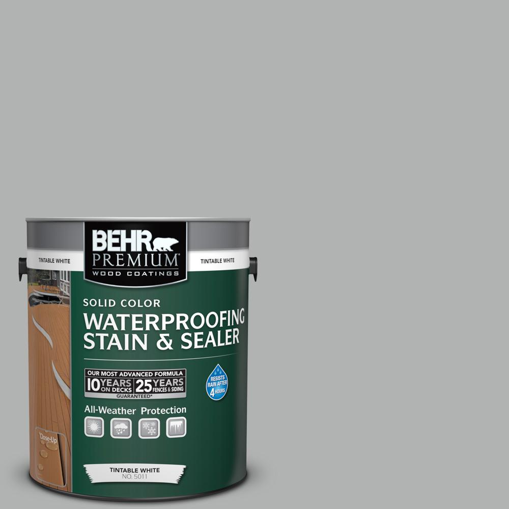 1 gal. #780F-4 Sparrow Solid Color Waterproofing Exterior Wood Stain and