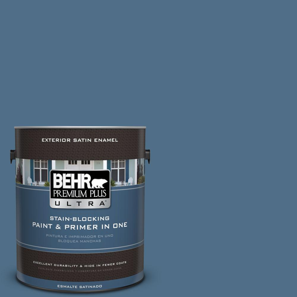 BEHR Premium Plus Ultra 1-gal. #S500-6 Shipyard Satin Enamel Exterior Paint