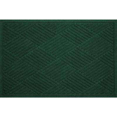 WaterGuard Diamonds Evergreen 3 ft. x 5 ft. Polypropylene Mat
