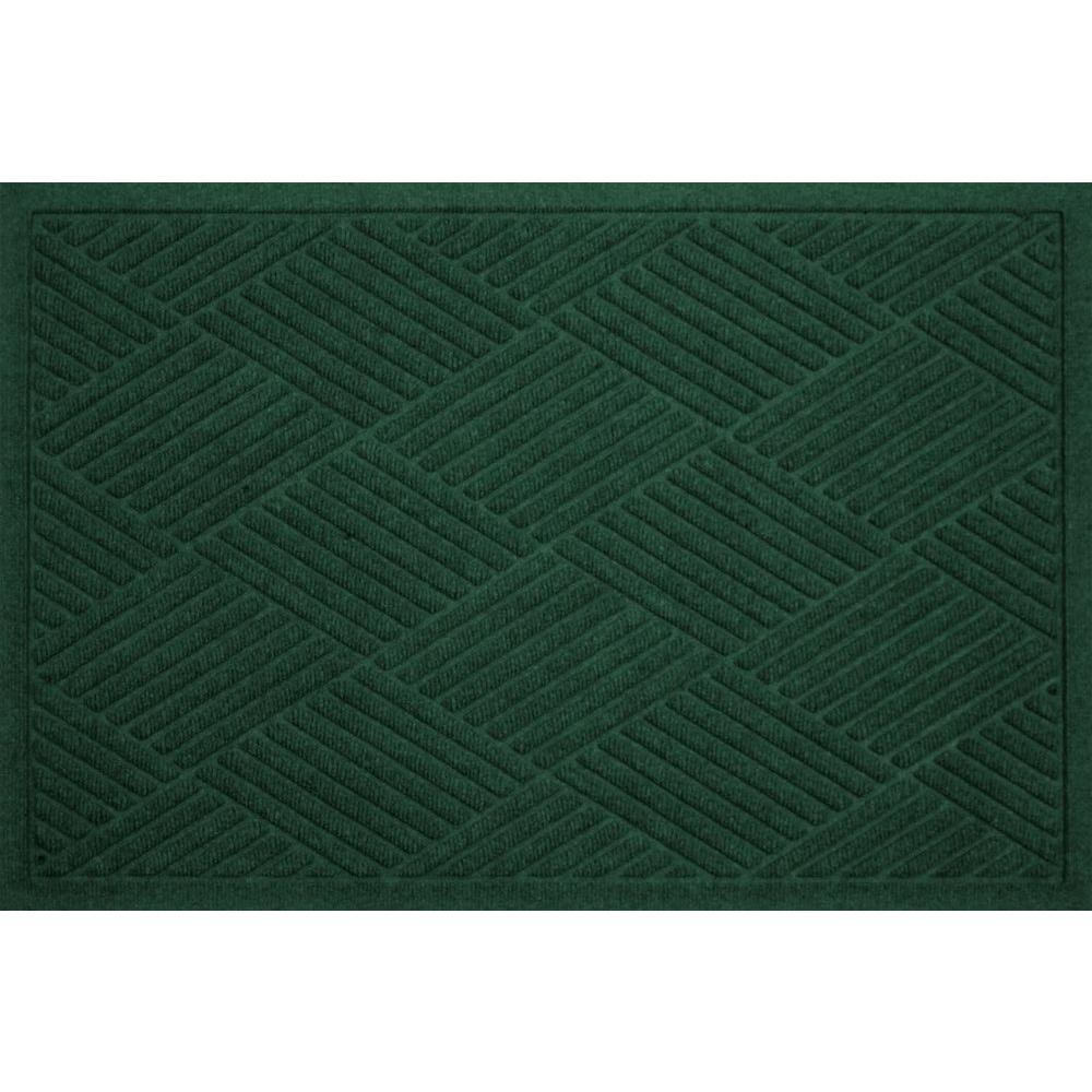WaterGuard Diamonds Evergreen 3 ft. x 5 ft. Polypropylene Mat