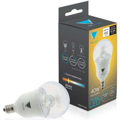 40-Watt Equivalent A15 Dimmable 450-Lumens ETL Listed E12 Candelabra Base Appliance LED Light Bulb Soft White