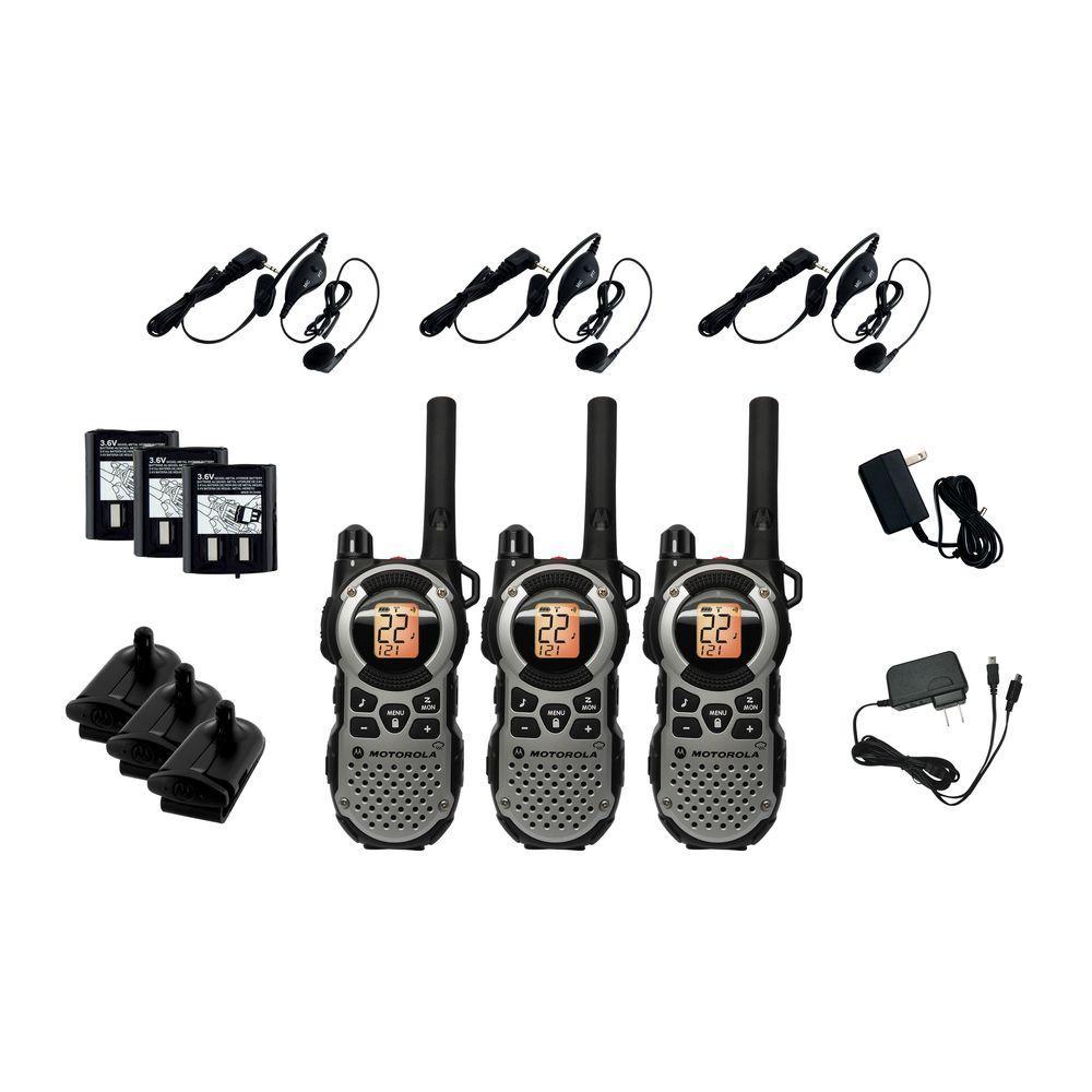 Motorola 2 Way Radio 35 Mile Range Weatherproof - Triple Pack-DISCONTINUED
