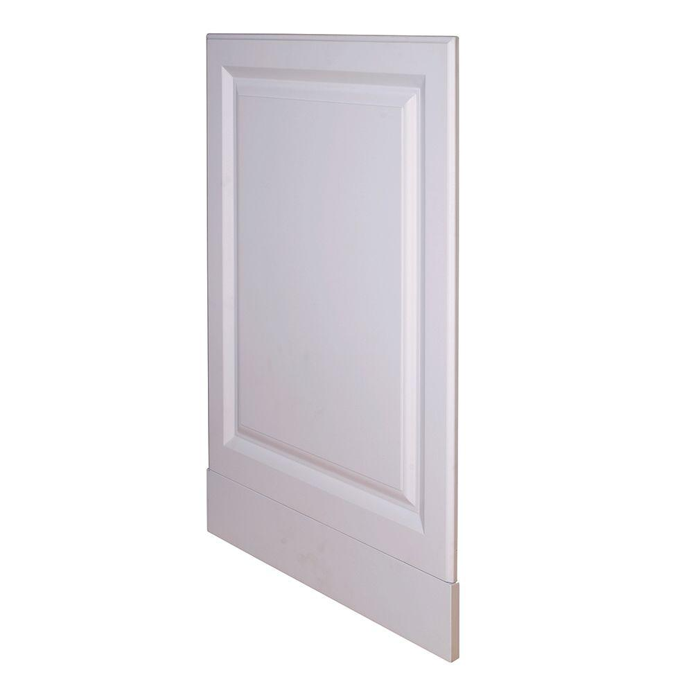 Home Decorators Collection Hallmark Assembled 24 x 34.5 x .75 in. Base End Panel in Arctic White