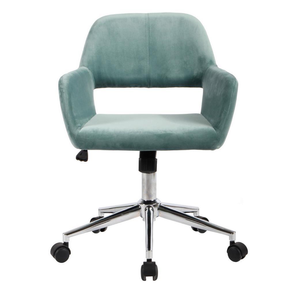 Ross Teal Velvet Home Task Chair