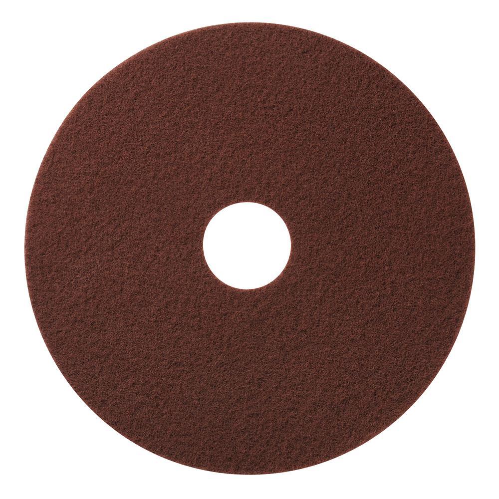 20 in. Maroon Chemical Free Floor Stripping/Scrub Pad (10-Pack)
