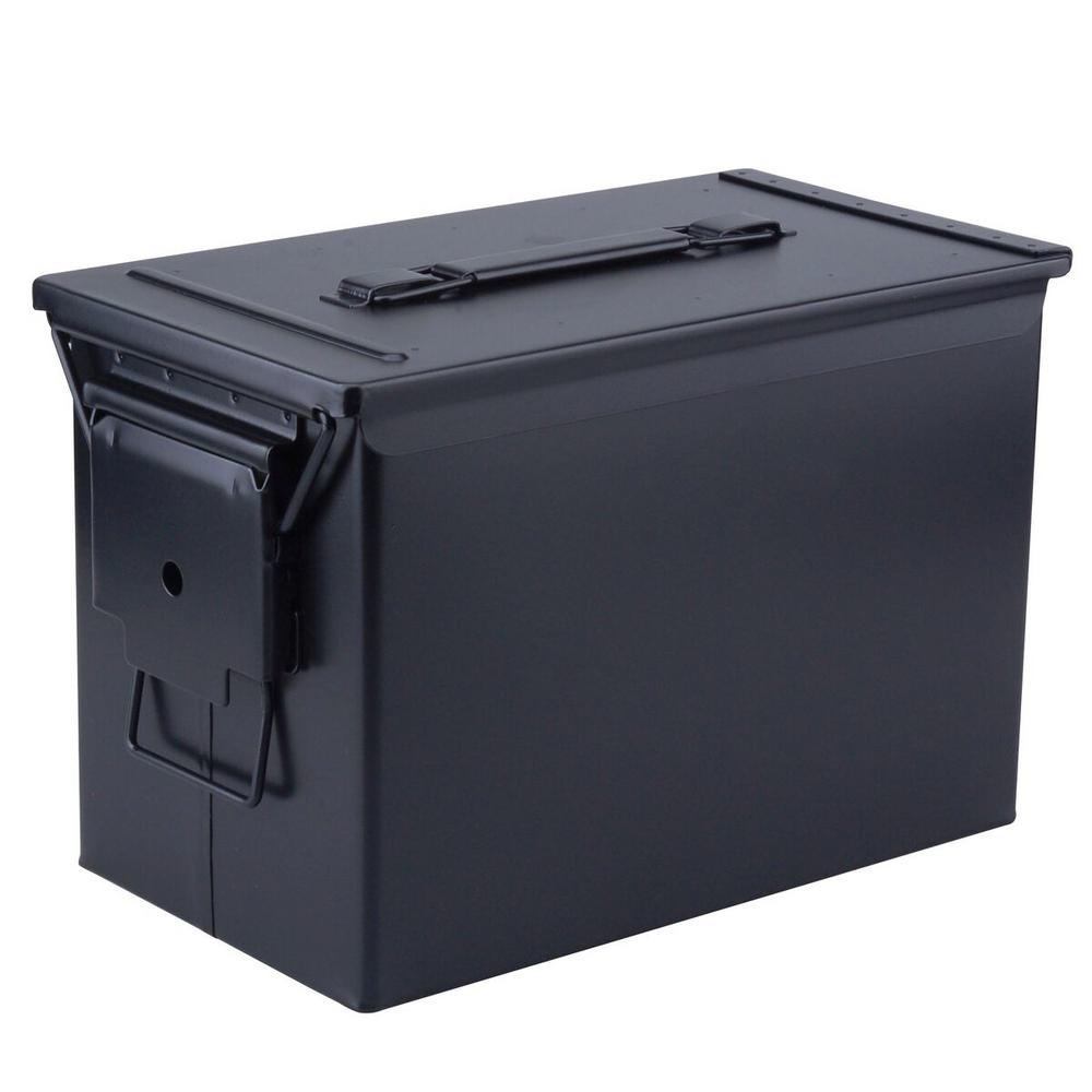 MAGNUM Military Grade Heavy-Duty 0.50 Cal Metal Tactical Ammo Storage Box in Black  sc 1 st  Home Depot & MAGNUM Military Grade Heavy-Duty 0.50 Cal Metal Tactical Ammo ...